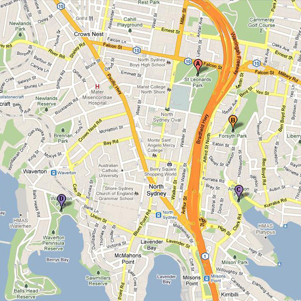 North Sydney_map
