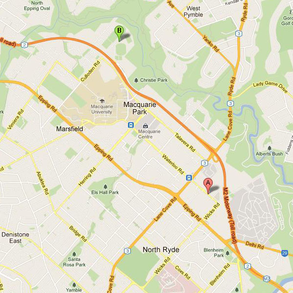 North Ryde_map