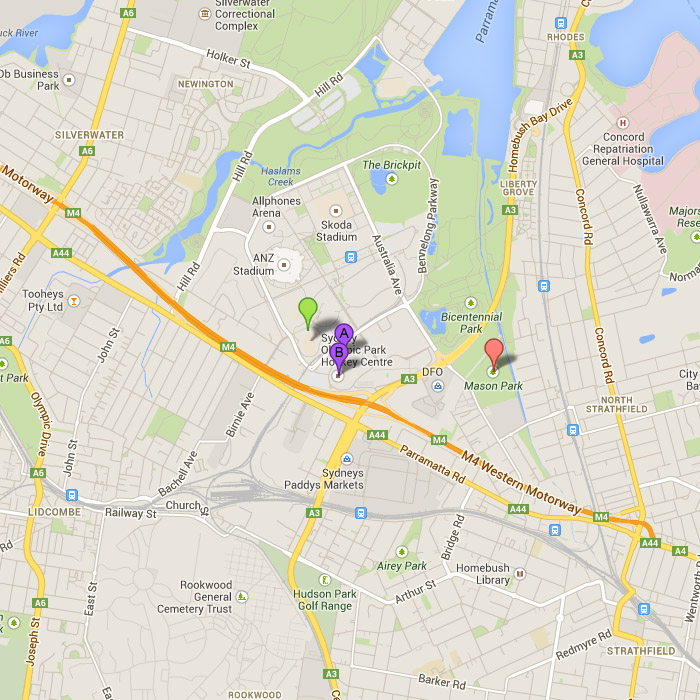 Sydney Olympic Park_map